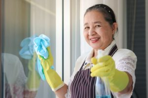 How do I clean my home efficiently without using chemicals