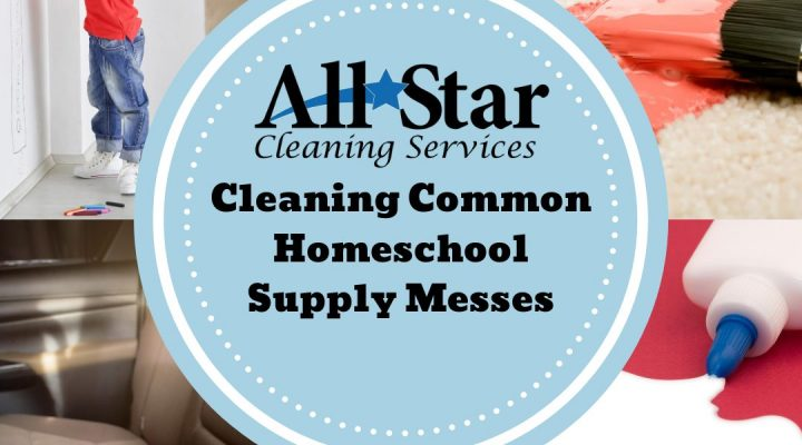 CleaningCommon Homeschool Supply Messes