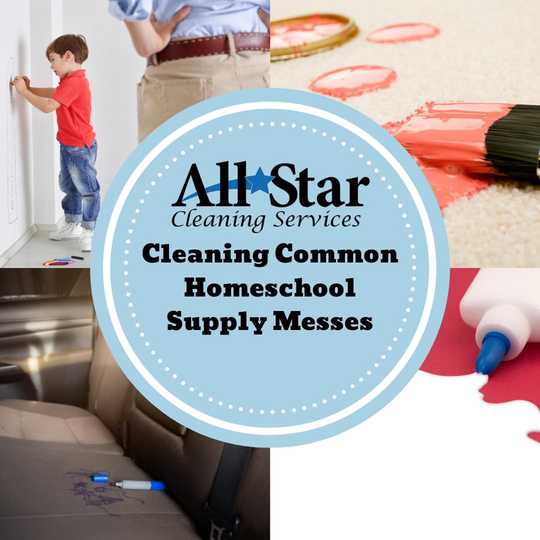 Cleaning Common Homeschool Supply Messes