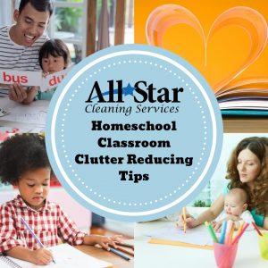 Homeschool classroom clutter reducing tips