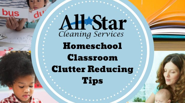 Homeschool classroom clutter reducing tips